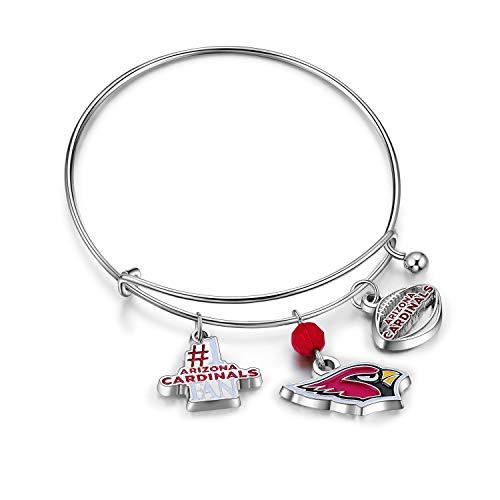 NFL Arizona Cardinals Three Charm Logo Bracelet ()