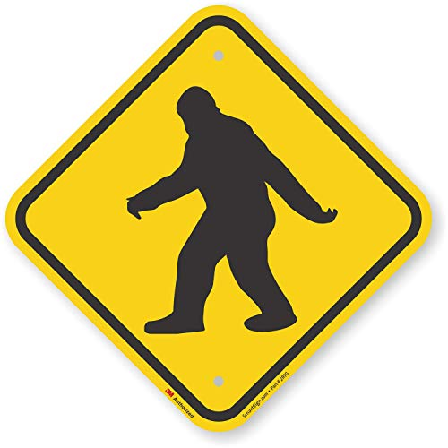"SmartSign ""Sasquatch Big Foot Crossing"" Sign 
