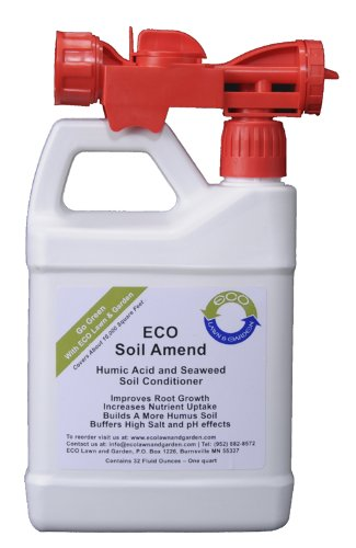 ECO Liquid Seaweed Humic Acid Soil Amend Concentrate Ready-To-Use Quart (Best Lawn Grass Seed For North Dakota)