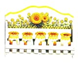 SUNFLOWER 3-D Spice Rack & Jars *NEW*