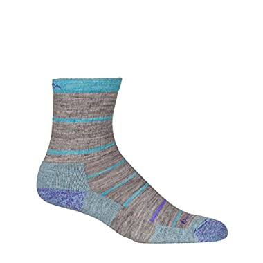 Darn Tough Summit Stripe Micro Crew Cushion Sock - Women's Pebbles Large