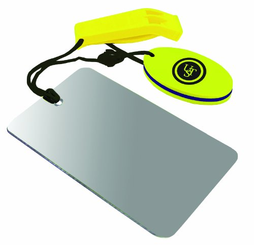 UST Find-Me Signal Mirror & Hear-Me Floating Whistle Combo, Marine