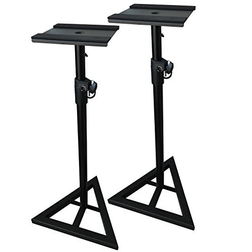 EMB Professional Pair of SS07 Heavy Duty Studio Monitor Speaker Stands w/Height Adjustment/Set of 2