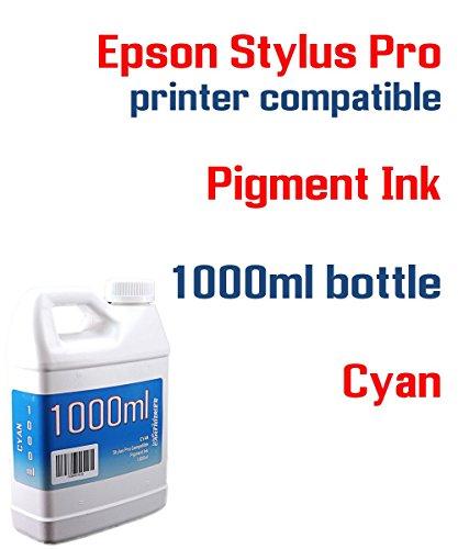 Cyan Pigment ink 1000ml bottle compatible ink - Stylus Pro 3800 3880 4000 4800 4880 7600 7800 7880 9600 9800 9880 printers