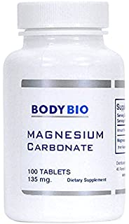 BodyBio - Magnesium Carbonate, 135mg, 100 Tablets