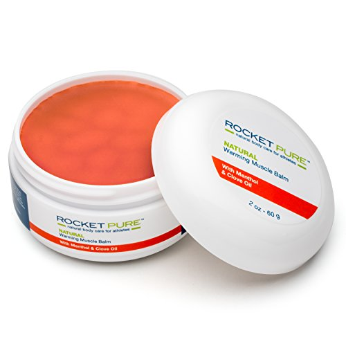 Natural Warming Muscle Balm. Relief Before or After Exercise, Soothes Pain, Tired and Sore Muscles. Natural Balm Made in The U.S. is Better Than Other Creams, Gels and Ointments. (Muscle Balm)