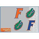 FLORIDA GATORS Vinyl Decals COMBO 4 Pack #3 Car Truck iPhone UF Stickers