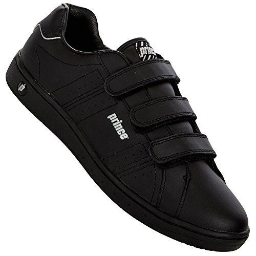 Herren Classic Leder Schwarz Schuhe Prince 60qPZZ