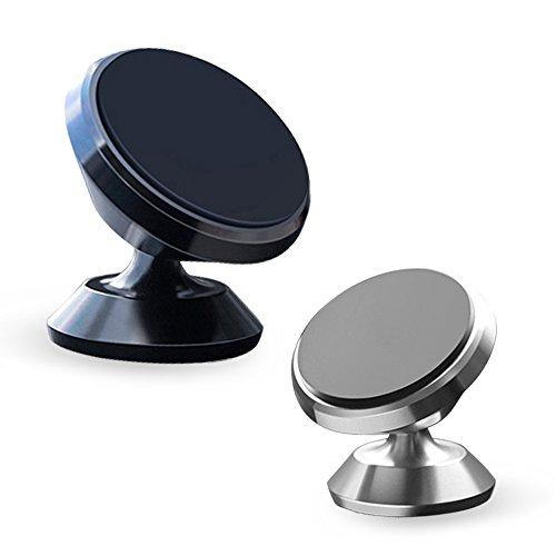 Universal 360 Rotation Magnetic Car Phone Holder Stand, Packaging containing 3PCS Multi Purpose Nano Gel Pad Car Holder Cell Phone Stand GPS Sticky Mat to Wall,for iPhone, Samsung