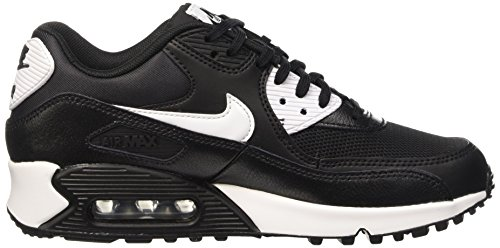 Nike Max Silver White Black Essential Metallic Air Basses Noir Femme Baskets 90 HHRArwxS
