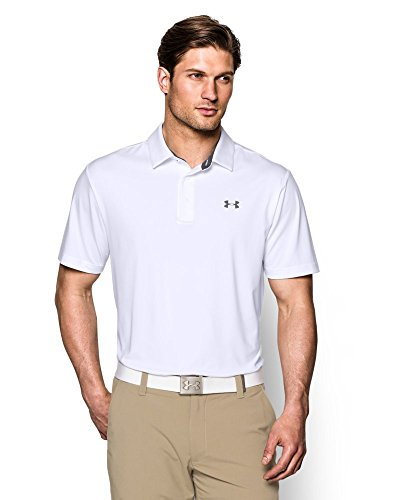 Men's Playoff Polo, White/Graphite, Medium