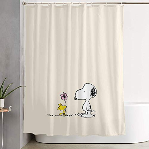Meirdre Stylish Shower Curtain Snoopy Printing Waterproof Bathroom Curtain 60 X 72 Inches ()