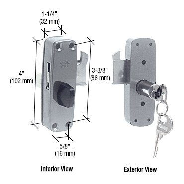 CRL Silver PatioGuard Deadbolt Lock by CR Laurence by C.R. Laurence (Image #1)