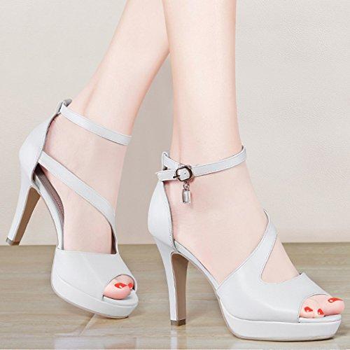 Blanc Taille Stilettos Hwf 34 Sandales Noir Femme Summer Chaussures couleur zUwBqB