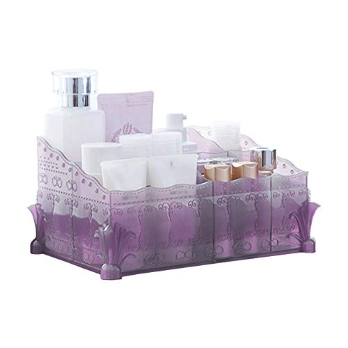 Red Co. Embossed Matte - Makeup & Jewelry Organizer - Perfect Countertop Cosmetics Display Storage