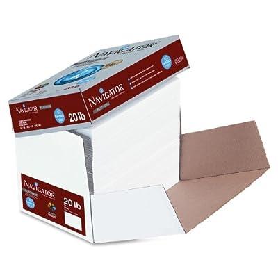"Wholesale CASE of 10 - Soporcel Navigator Platinum Printing Paper-Premium Paper, GE99, 20lb, 8-1/2""x11"", 2500Sht/CT, White"