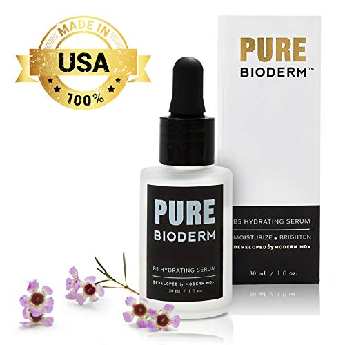 Hyaluronic Acid & Vitamin B5 Anti Aging Serum – Dermatologist Developed Hydrating and Skin Brightening Serum & Anti Aging Moisturizer w/ Pure Hyaluronic Acid for Wrinkle Repair, Dark Spots & Acne