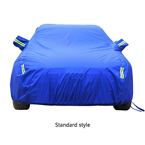 (All-Weather Durable Protective Cover - Completely Waterproof and UV-Resistant - Hood for Suzuki Sedan JIMNY Swift Sports IGNIS Kizashi, Oxford Cloth/Cotton Lining (Color : Blue, Size : Kizashi))