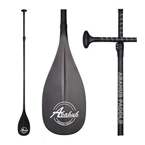 ABAHUB Premium Carbon Fiber SUP Paddle 3-Piece Adjustable Stand Up Paddle Full Carbon Shaft & Blade + Bag