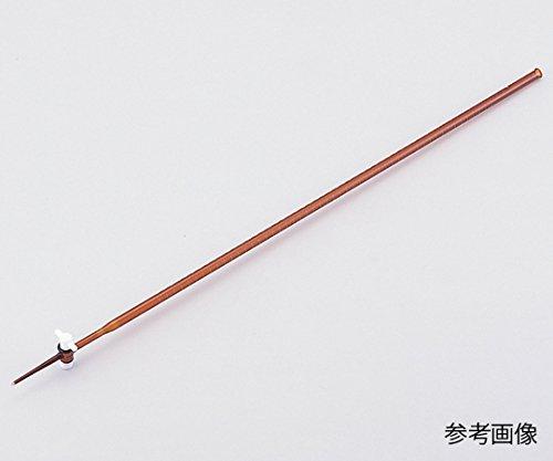 6-254-05ビュレット硼珪酸ガラス製PTFE活栓付茶褐色100mL B07BDP9XWY