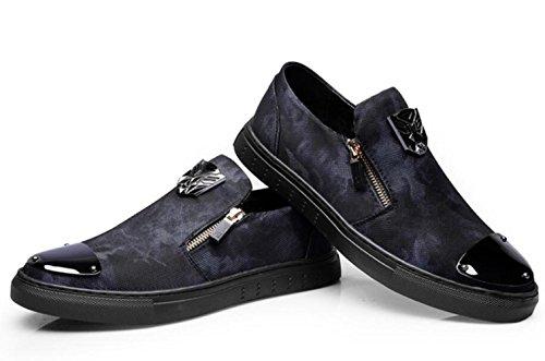 LEDLFIE Printemps Hommes Sport Chaussures Casual Mode Joker Chaussures Casual Chaussures pour Hommes Blue BxJxbky