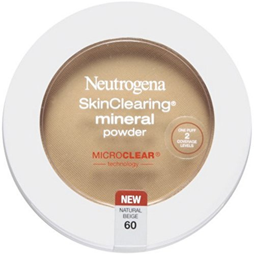 Neutrogena Skinclearing Mineral Powder, Natural Beige 60.38 Oz, (Pack of 2) by Neutrogena
