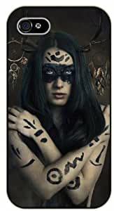 Dreamcatcher, girl with mask - iPhone 5 / 5s black plastic case / Inspiration