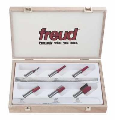 Freud 6 Piece Straight Bit Set (1/2