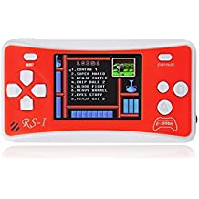 """E-MODS GAMING® 2.5"""" Handheld Game Console w/ Speaker / Built-in 162 Games - Red + White"""