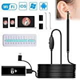 Otoscope, VSATEN Wireless Ear Camera,3 in 1 1.3 MP Digital Ear Scope Ear Inspection Camera Earwax Cleansing Tool with 6 Adjustable LEDs for iPhone & iPad, Android Devices, Windows & MAC PC Computer