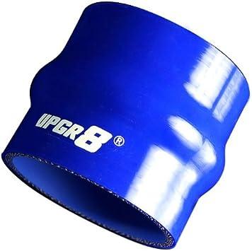 "70mm HPS 2.75/"" Blue 4-Ply Silicone Hump Coupler Hose 3/""Long-Intake Intercooler"
