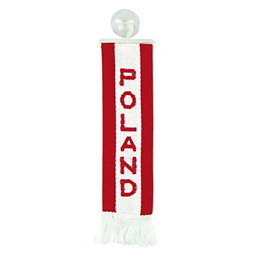 TRUCK DUCK Camion Voiture Mini /écharpe de voiture Motif drapeau de la Poland Drapeau Ventouse Miroir D/éco