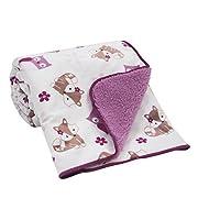 Bedtime Originals Sherpa/Velour Blanket, Lavender Woods