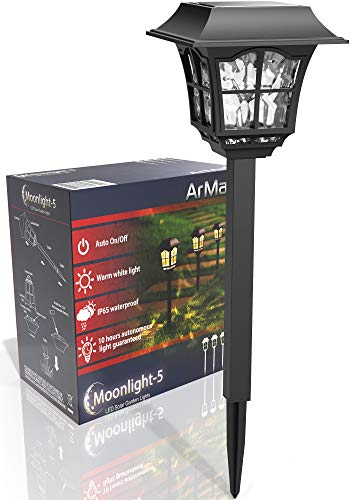 ArMax Solar Pathway In-Ground Decoration Lights Outdoor - for Garden Driveway Walkway Sidewalk Yard Lawn Path - Landscape Lighting - Warm White LED Light Up to 25HR - 4 Pack - Lighting Walkway