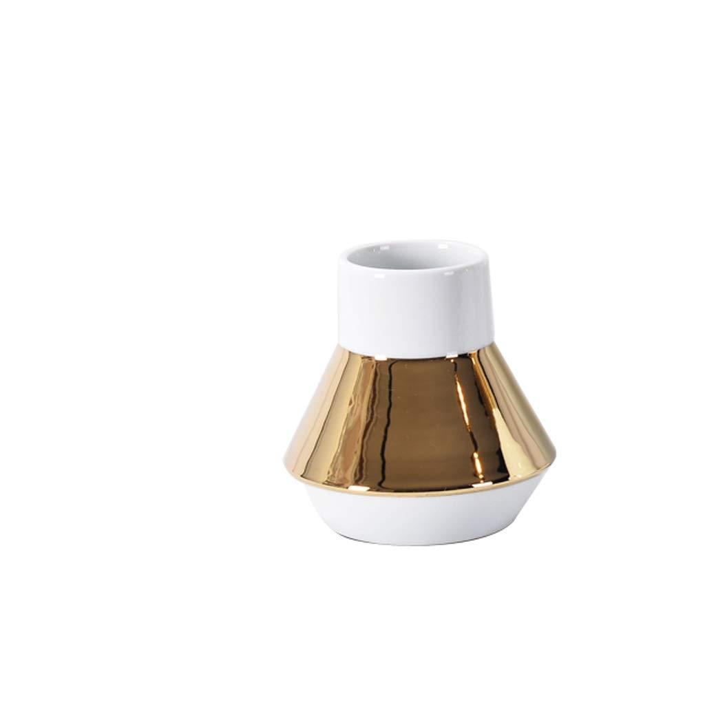 セラミック花瓶装飾金属セラミック花瓶ドライフラワーフラワーアレンジメントフラワーデコレーション SHWSM (サイズ さいず : 17*16cm) B07RW8JT59  17*16cm