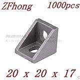 Gimax 1000pcs 2020 Bracke Aluminum Profile Corner Fitting Angle 20 x 20 x 17 20 x 17 Decorative Brackets Aluminum Profile