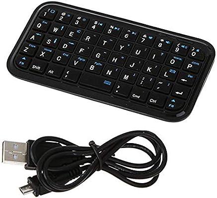 uu19ee Portátil Negro Delgado Mini Bluetooth Teclado Inalámbrico para Tablet Pc Celular: Amazon.es: Electrónica