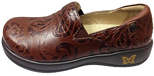 Alegria Women's Keli Professional Slip Resistant Work Shoe (36 M EU / 6-6.5 B(M) US, Yeehaw Brown)