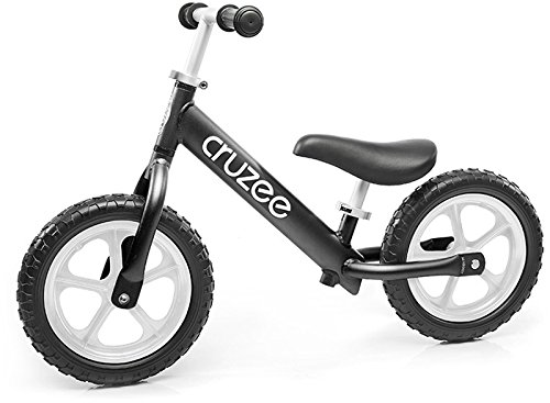Cruzee Ultralite Balance Bike (4.4 lbs) for Ages 1.5 to 5 Years | Black - Best Sport Push Bicycle for 2, 3, 4 Year Old Boys & Girls- Toddlers & Kids Skip Tricycles on The Lightest First Bike
