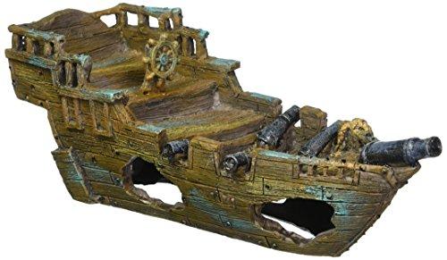 Pen Plax RR1013 Shipwreck Aquarium Ornament, Small/11.5