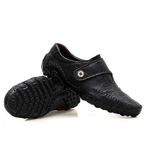 Cuero Guisantes Sólidos Zapatos De De Hombres Los De De Tamaño Los 39 Los De Zapatos De Los amp;TT Casuales Black De Black Garras W De Gran Ocho Pescados Zapatos Hombres PnqYtXPw