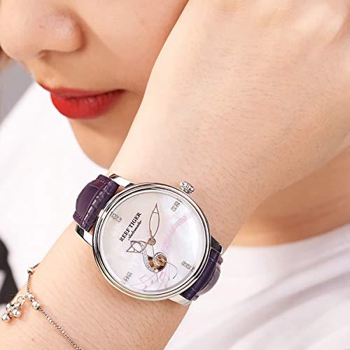 Reef Tiger Top Brand Luxury Diamonds Fashion Watches Womens Steel Analog Watches Waterproof RGA1582