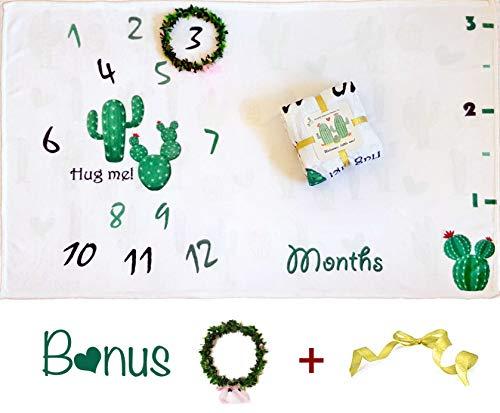 Extra Thick Baby Monthly Milestone Blanket 60