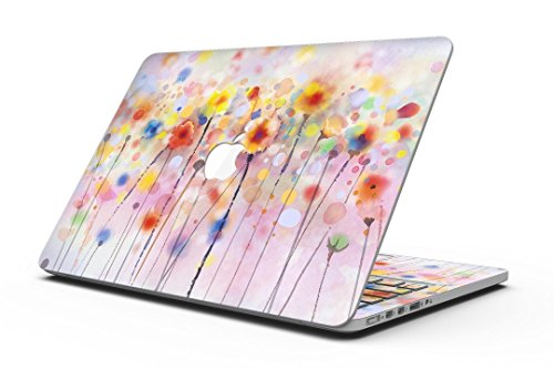Drizzle Watercolor Flowers V1 - MacBook Pro with Retina Display Full-Coverage Skin Kit ()