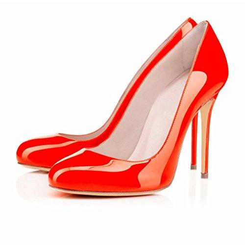 Pukeutua Kengät Piikkikorot Sandaalit Ybeauty Luistaa Varvas Oranssi Pyöreä Naisten Korkokenkiä Pumput Työpaikalla BwxqT6wU