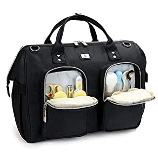Diaper Bag Tote with Stroller Straps and Changing Pad