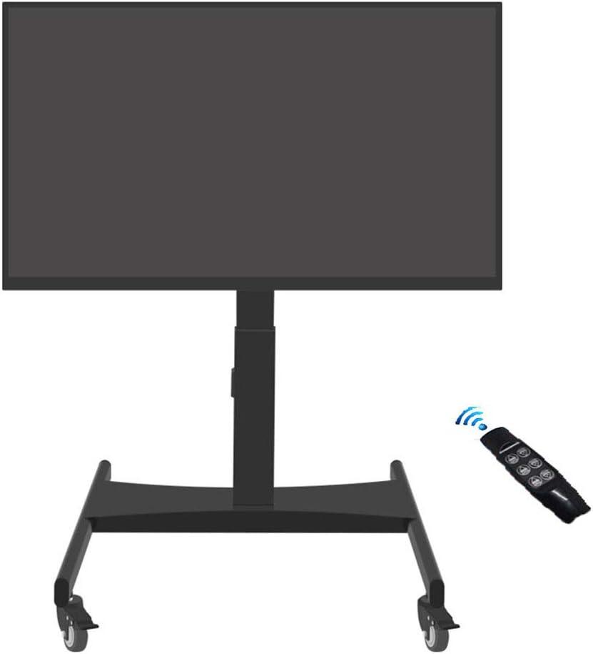 Carrito elevador eléctrico con control remoto, tres secciones, soporte para TV móvil, para 32 – 60 pulgadas, LED, LCD, Plasma, TV, pantalla plana, ruedas, altura giratoria, recámara, aula, sala de reuniones: Amazon.es: Hogar