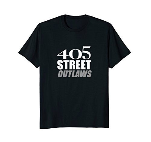 405 Street Outlaws T-Shirt |Lay Rubber Down Track Race Tee - Black Track Down T-shirt