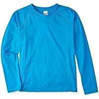 Camiseta Praia Manga Longa Azul Turquesa 10, TipTop