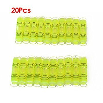 Mini Bubble Level Tool -TOOGOO(R) 20pcs Mini Bubble Level Tool for Cylindrical Clock Photo Frame Camera -